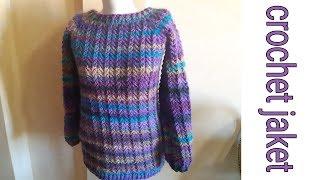 جاكيت او تريكو بالكروشي الجزء التااني/ crochet jaket