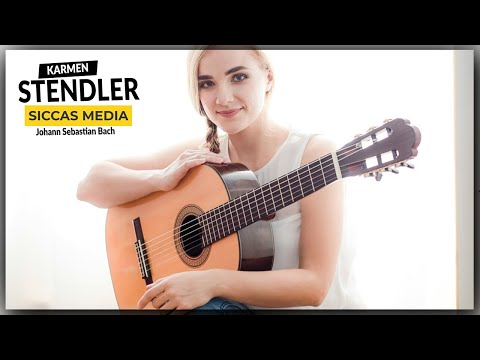 Siccas Media Presents Karmen Stendler - J  S  Bach Prelude BWV 995 On A D. Müller Classical Guitar