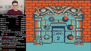 (26:21.17) Super Mario Land 2 any% glitchless speedrun (shades of Marino)