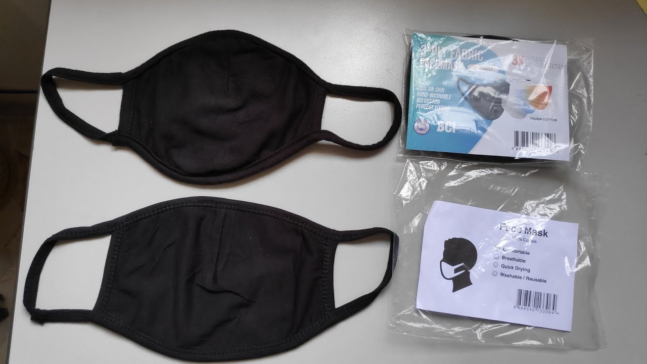 2 types of reusable cloth masks [3ply BCI vs generic] provided by the SG  govt - YouTube