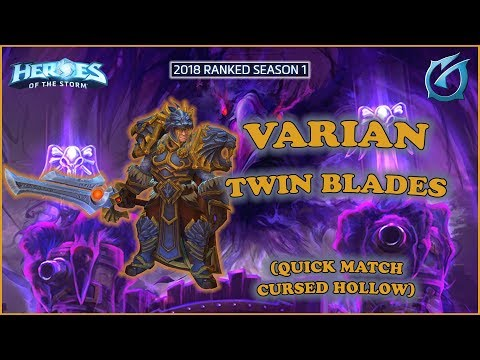 Grubby | Heroes of the Storm - Varian - tWIN Blades - QM on Cursed Hollow