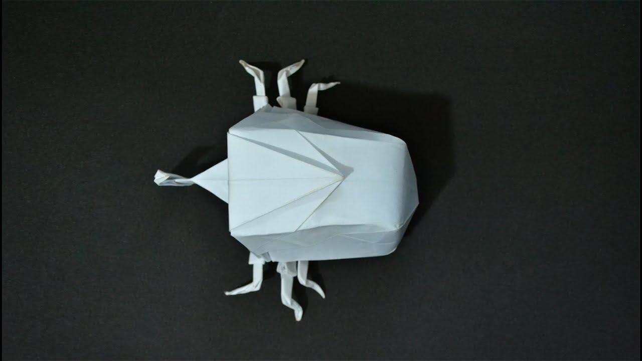 Origami 3d beetle instructions in english br youtube jeuxipadfo Choice Image