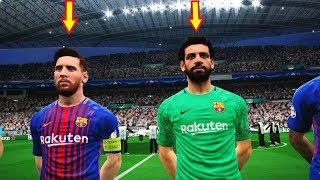 Real madrid vs barcelona | mohamed salah goalkeeper | uefa champions league (ucl) | pes