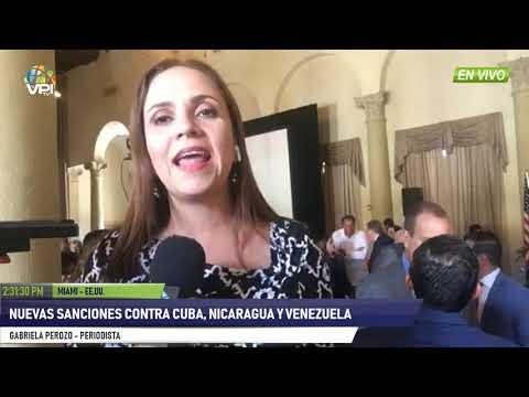 EEUU- Nuevas sanciones contra Cuba, Nicaragua y Venezuela- VPItv