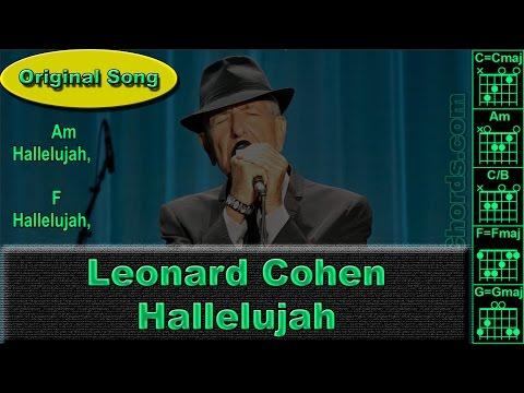 Leonard Cohen (Jeff Buckley) - Hallelujah - Original - Guitar Chords (0018-A1)