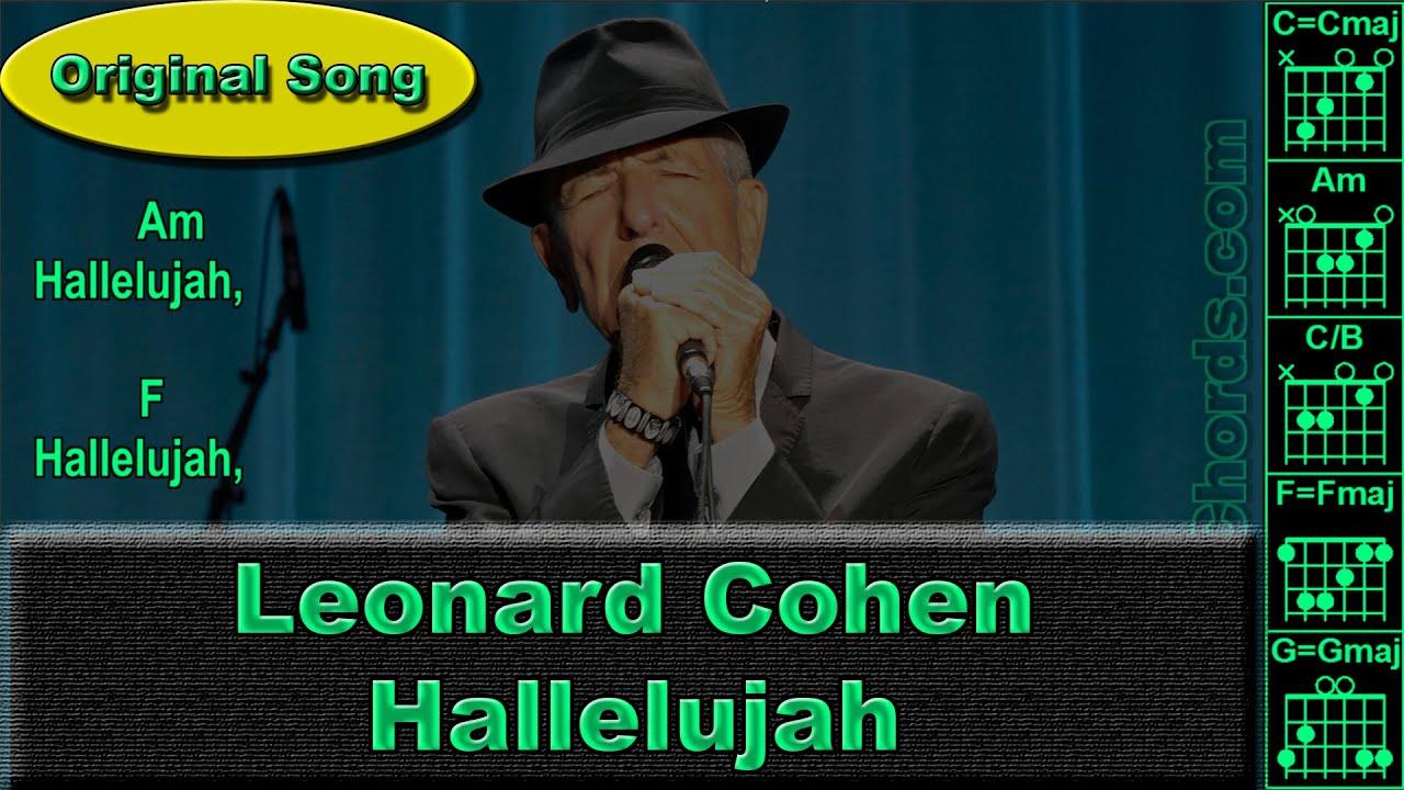 Leonard Cohen Jeff Buckley Hallelujah Original Guitar Chords