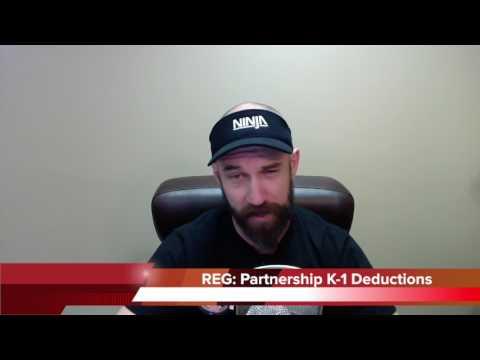 CPA Exam: REG Partnership K-1 Deductions | Another71.com