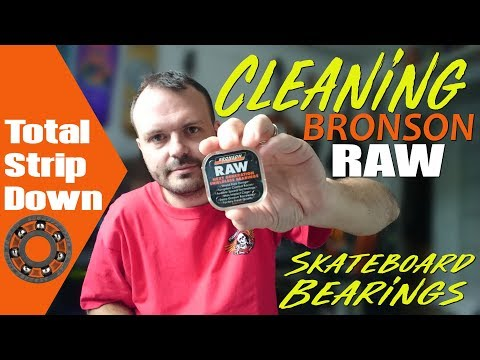 Cleaning Bronson RAW Skateboard Bearings -  Part 2: Total strip down, disassembly and reassembly