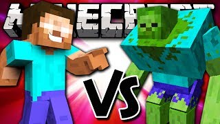 HEROBRINE VS MUTANT ZOMBIE - Minecraft Batalha de Mobs - Herobrine e Mutant Creature Mods