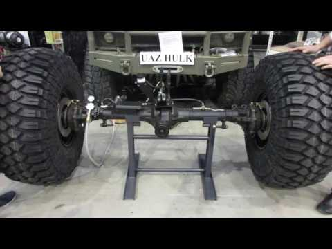 UAZ military axles from TARMOT 4x4 with torsen and CTIS system