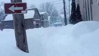 Braving Sunday's Snowpocalypse - Harsh Canadian Winter Shuts Down Small Town