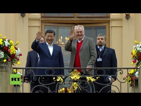 LIVE: China's Xi Jinping to be received at the Lany chateau