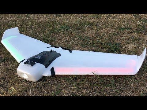 ZOHD Orbit Neon 900mm FPV Night Flying Wing Maiden Flight At Dusk
