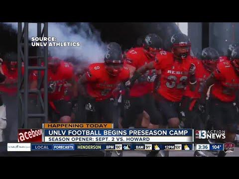 Preseason camp for UNLV Rebels football team