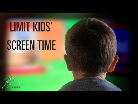 Limit television and other screen time for children