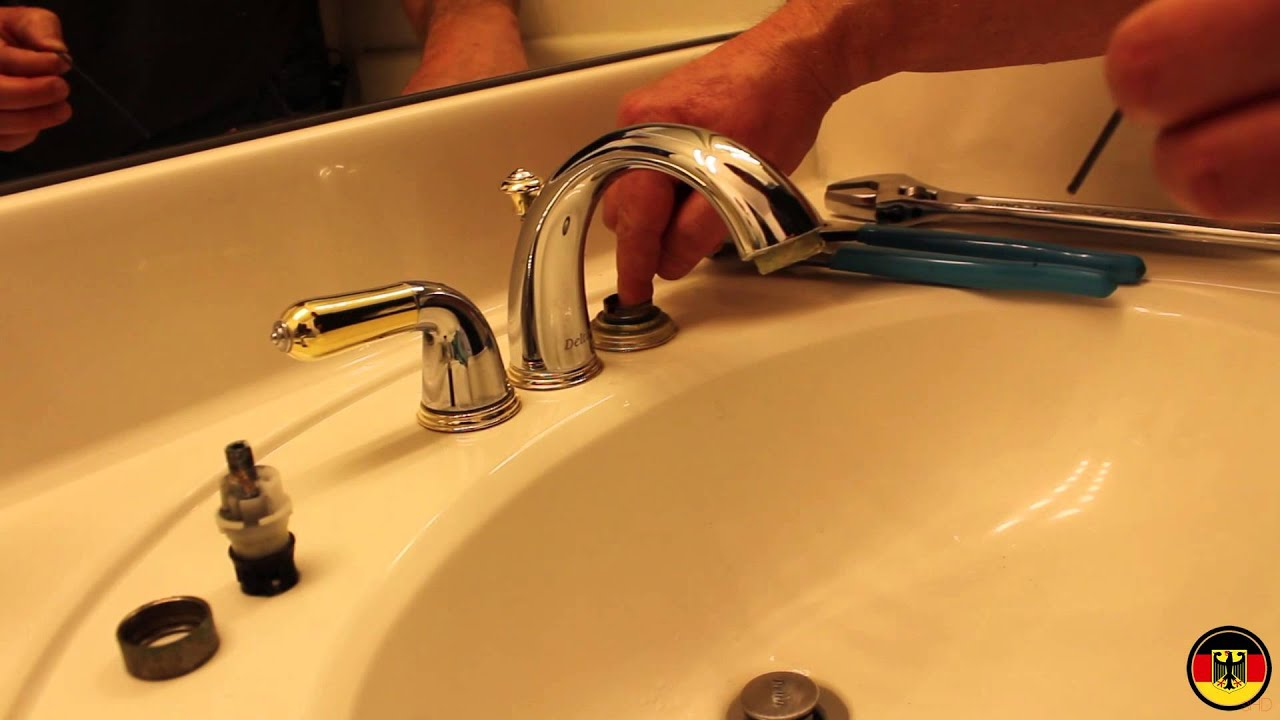 DeltaPeerless Faucet Cartridge Installation  YouTube