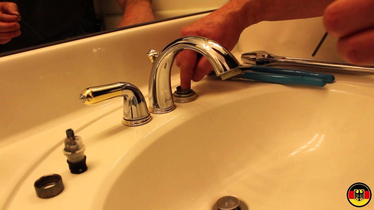 delta/peerless faucet cartridge installation - youtube
