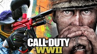 Call of Duty WW2 - 1v1 LOSER GETS SHOT BY A PAINTBULL GUN! (CRAZY 1V1 WAGER)
