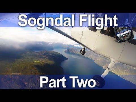 Norwegian C172 Flight - Sogndal Part 2