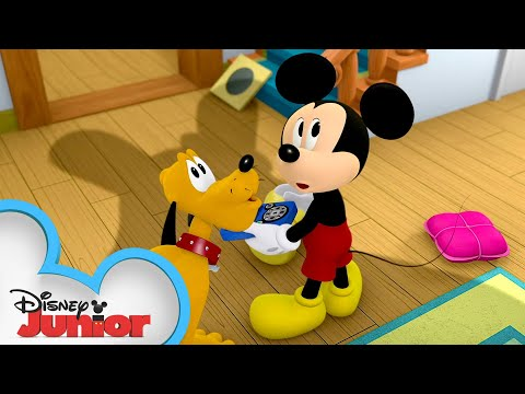 Dust Bunny Dust-Up! | Mickey Mouse Hot Diggity Dog Tales | Disney Junior
