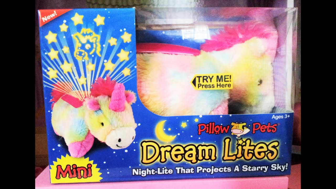 Dream lites unicorn pillow pet with night lights youtube dream lites unicorn pillow pet with night lights mozeypictures Images