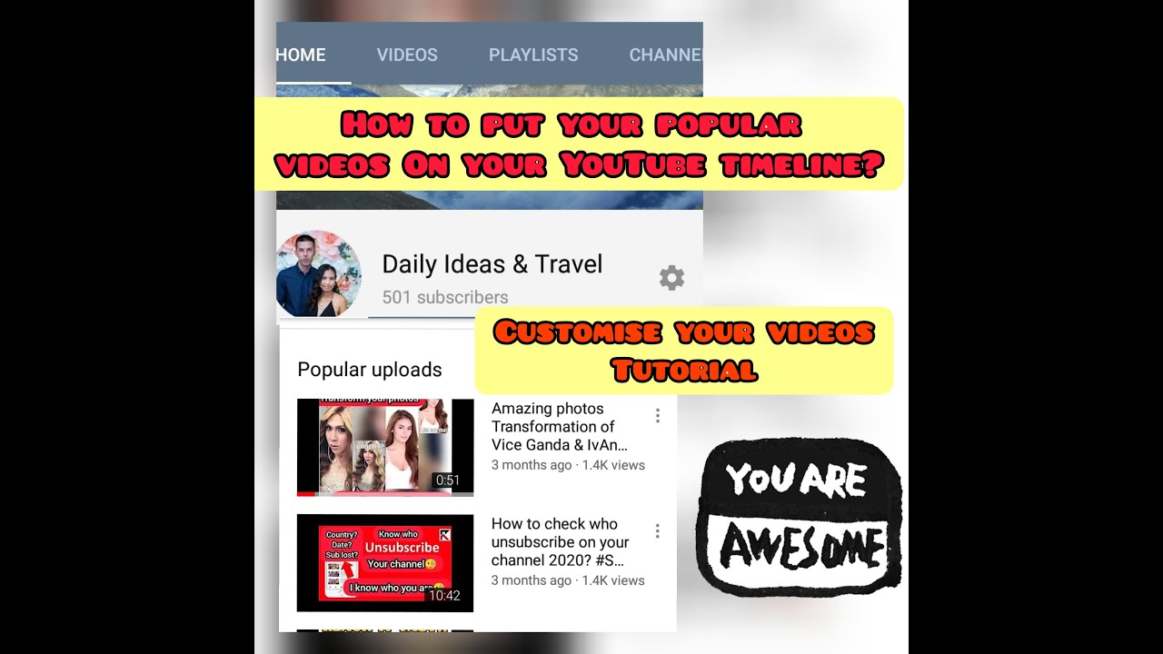 How to Display your popular videos on your your YouTube channel Timeline? #easySteps #tutorial