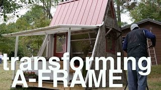 Deek's Transforming $1200 A-frame Cabin And Plans  Tiny Vacation House