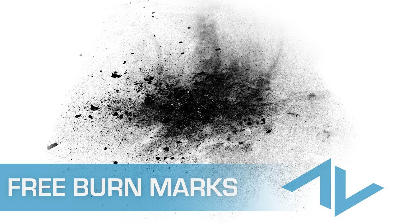 FREE Burn Mark Textures Vol  1 - Stock Footage Collection From ActionVFX