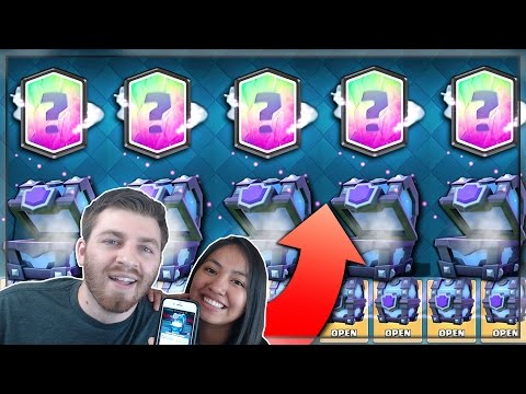 SHE GOT x5 LEGENDARIES IN A ROW?! | Clash Royale | LEGENDARY SUPER MAGICAL CHEST HUNT w/ KARLA!