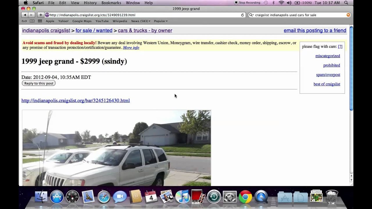 Craigslist indianapolis used cars and trucks best local for sale by owner options youtube