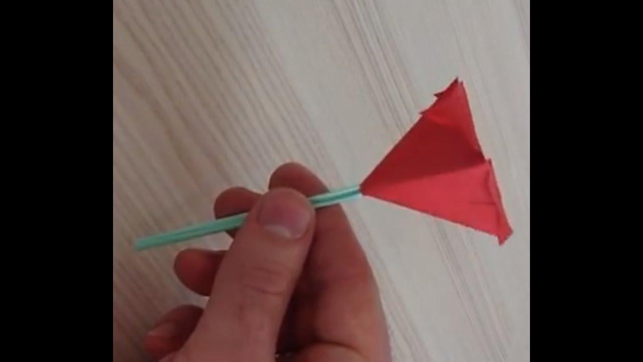 faire une fleur en papier origami fleur avec tige youtube. Black Bedroom Furniture Sets. Home Design Ideas
