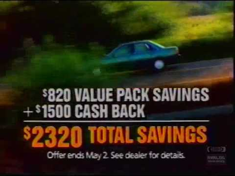 Mazda 626 LX   Television Commercial   1991