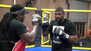"Quinton ""Rampage"" Jackson gets back to training preparing for return to action"