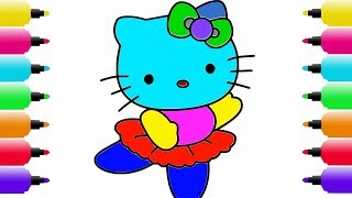 HELLO KITTY Coloring Pages | How to Draw Cat Coloring Pages Youtube Videos for Kids | house coloring