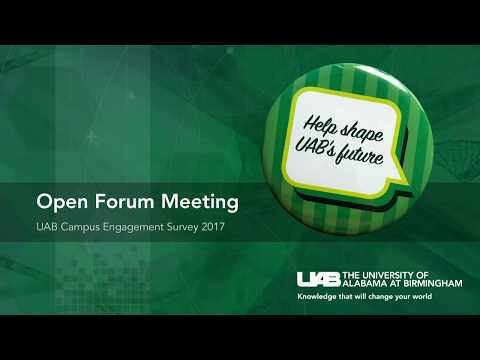 UAB Campus Engagement Survey: Results Presentation and Town Hall