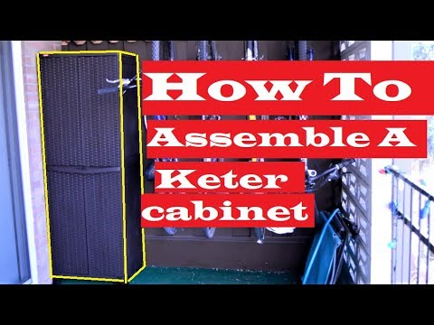 How To Assemble A Keter Storage Cabinet From Home Depot