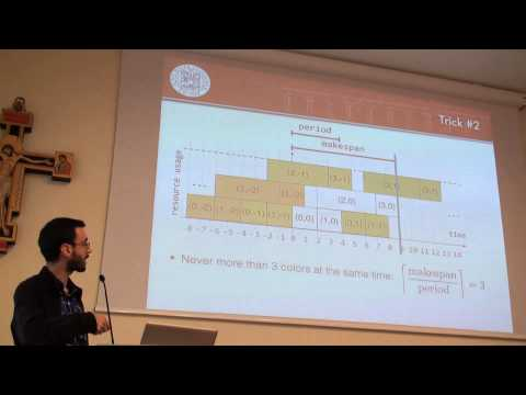 ICAPS 2013: Michele Lombardi - De-Cycling Cyclic Scheduling Problems