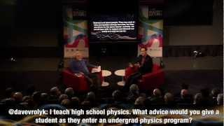 Advice For Undergrad Physics Students - Neil Turok At 2012 Massey Lecture Kick Off
