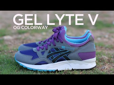 89a3b4f58e18 Closer Look  Asics Gel Lyte V - Grey Purple - YouTube
