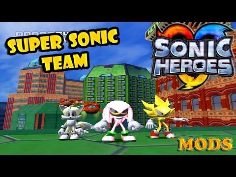 Sonic Heroes 3D - Классная детская игра(можно на двоих)!