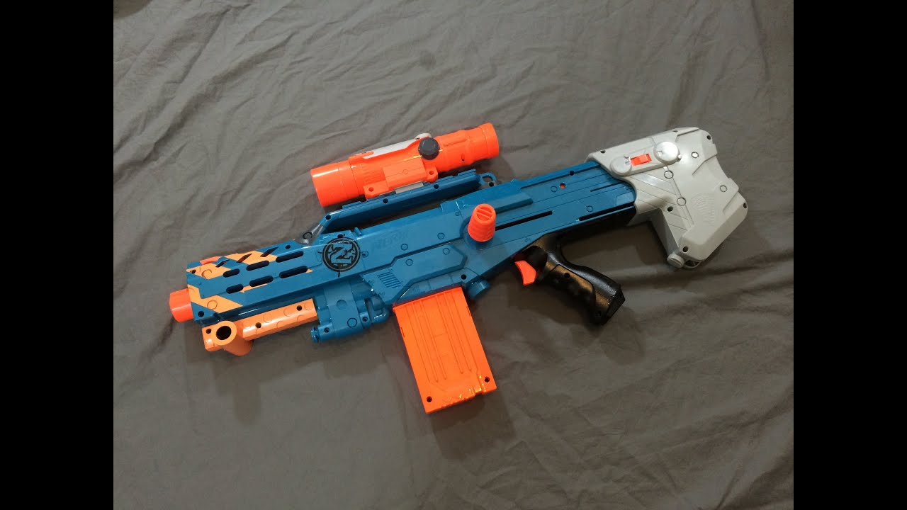 [REVIEW] Nerf Zombie Strike Longshot CS 12 Unboxing Review & Firing Test
