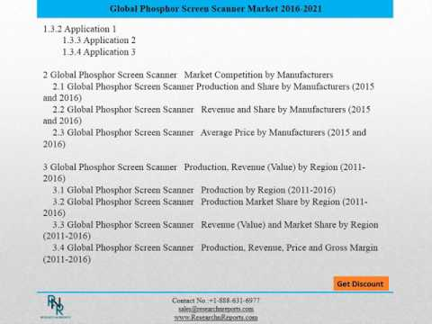 The Factors That Increased the Demand of Global Phosphor Screen Scanner market.