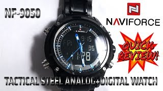 Tomoro Naviforce NF9050 Digital Analog Sturdy Stainless Steel Tactical Watch TOMORO 検索動画 43