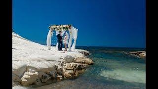 Свадьба на Кипре на площадке Белые камни Веры и Михаила