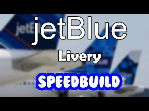 ROBLOX   JetBlue A320-200 Livery   Speed Build