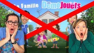 NOTRE CHAINE A ETE SUPPRIMEE PAR YOUTUBE - ON VOUS EXPLIQUE - La Famille Démo Jouets