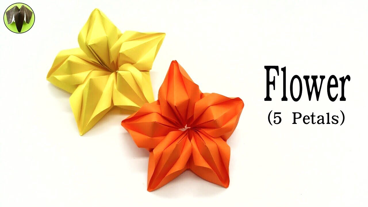 Flower 5 petals diy handmade tutorial origami 834 youtube flower 5 petals diy handmade tutorial origami 834 mightylinksfo