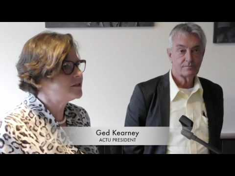 ACTU's Ged Kearney on Kevin Moylan's new book