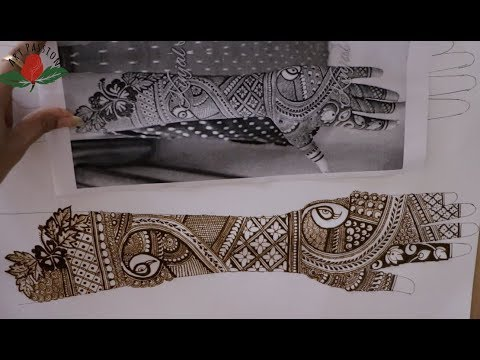 Case study : Artist Kinjal inspired mehndi design replicate Part 2