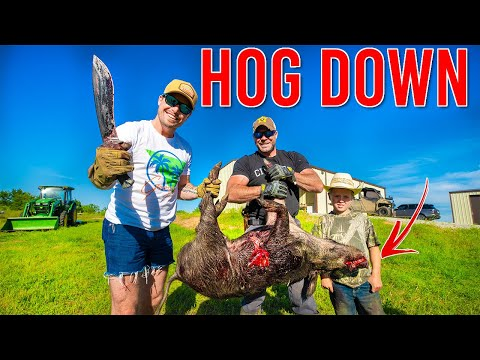 Hunting WILD Hogs With Just A KNIFE!!
